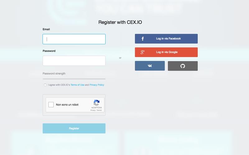 Come posso attivare un account con CEX.IO?